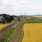 23「秋の津軽平野を走るメロス号」中野勇司